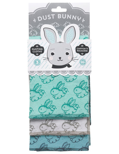 Now Designs Dusting Cloth Set/ 3 Dust Bunny IA