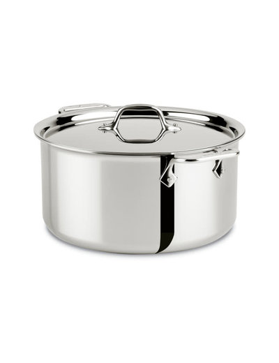 All-Clad D3 Stainless Steel Stockpot With Lid 8 QT
