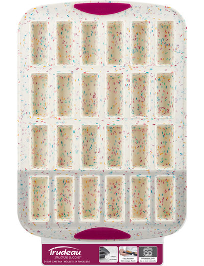 Trudeau White Confetti 24 Bar Cake Pan