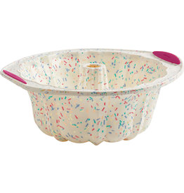 Trudeau White Confetti Fluted Pan