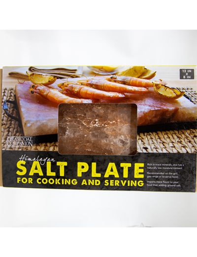Charcoal Companion Himalayan Salt Plate & Holder Set DC