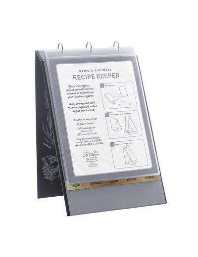 C.R. Gibson Vertical Recipe Keeper