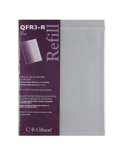 C.R. Gibson Vertical Recipe Keeper Refill Pages