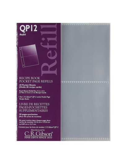 C.R. Gibson Refill/Pocket Page QP12 - 4X6 Divided