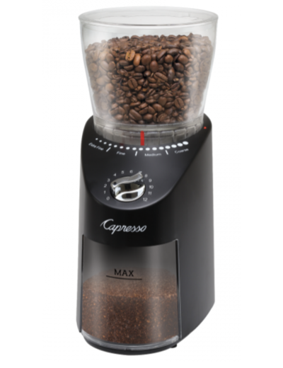 Capresso Infinity PLUS  Conical Burr ABS Black