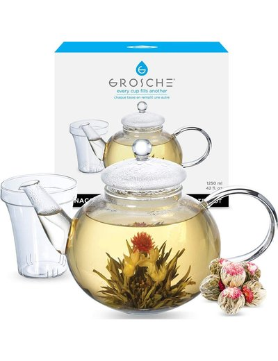 GROSCHE Infuser Teapot: Monaco 1.25 Liter