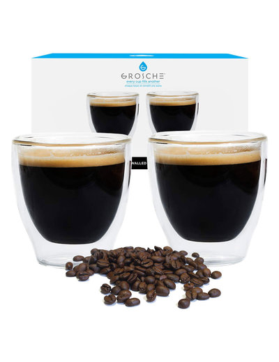 GROSCHE Turino Double Walled Espresso Glassware