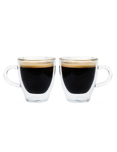 GROSCHE Turin Double Walled Espresso Glassware with Handle