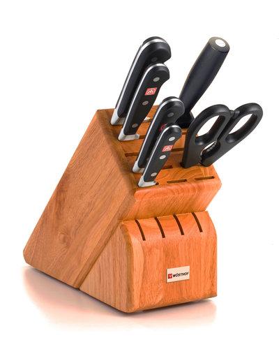 Wusthof Classic 13 pc Cherry Block set w/ 6 gourmet steak knives