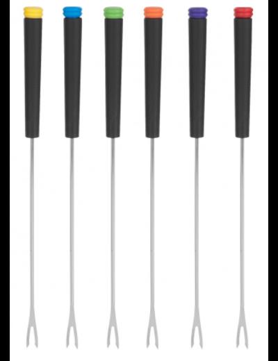 Trudeau Black Handle Fondue Forks / Set of 6