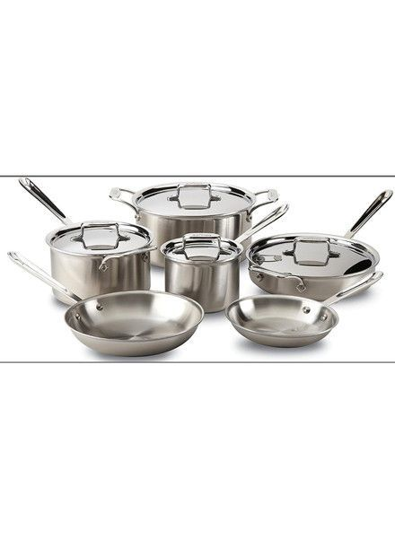 All-Clad Stainless Steel 10-Piece Pan Set