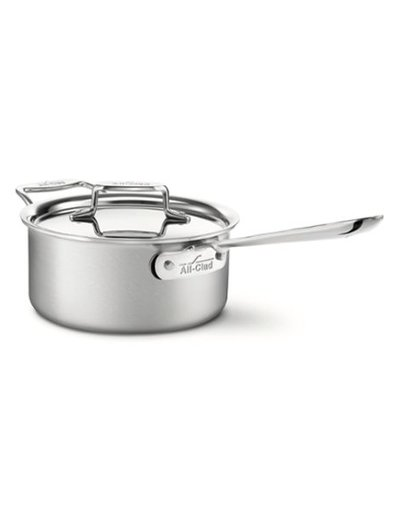 All-Clad Brushed Stainless Steel Saucepan with Lid and Loop 3-Quart