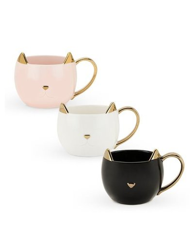 PINKY UP CHLOE CAT MUGS