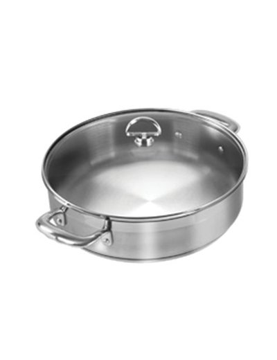 Chantal Induction 21 5 QT Sauteuse with Glass Lid