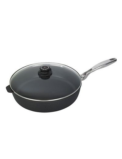 Swiss Diamond XD Stainless Steel Saute Pan with Lid - 5.8 Quart