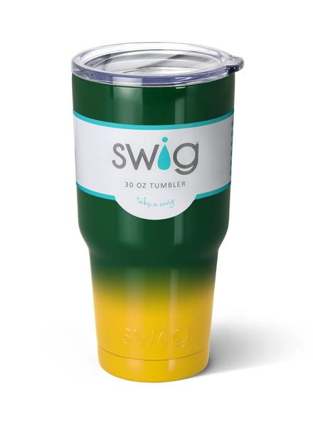Swig To-Go 30oz Green/Gold Travel Tumbler Mugs