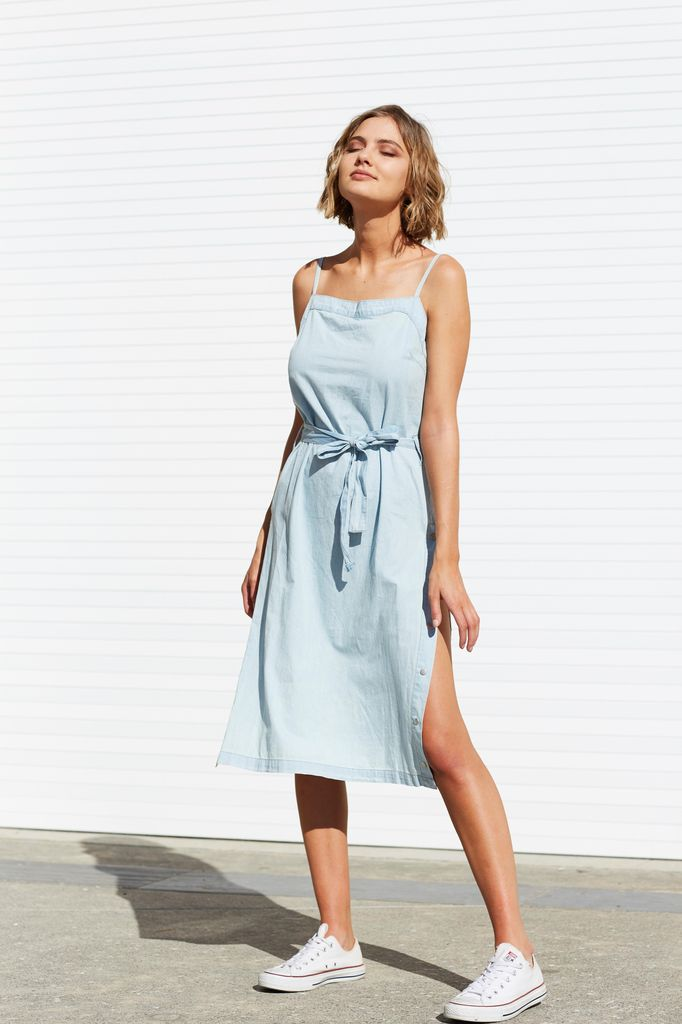Mink Pink Street Snap Side Slip Dress