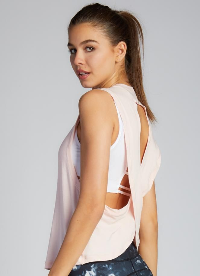 C'est Moi aloe yarn crop cross back