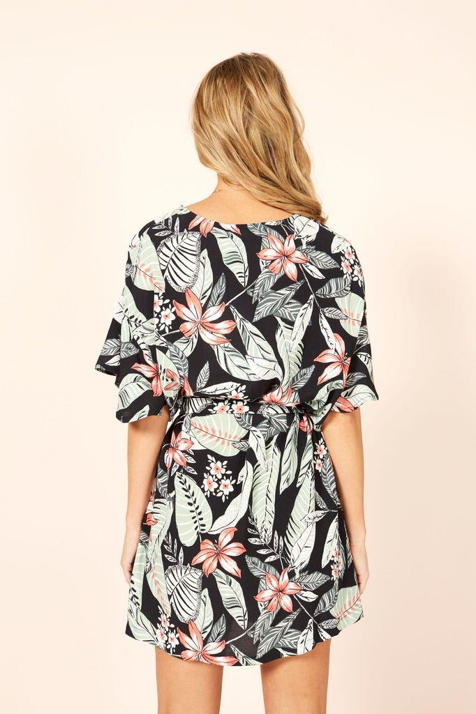 Mink Pink Aloha cove waist tie dress