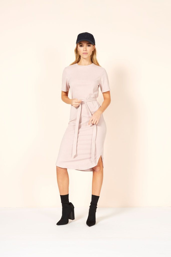 Mink Pink Rib suede tee dress