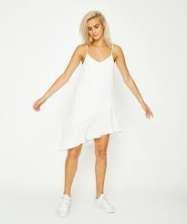 Mink Pink Pin Stripe Asymmetric