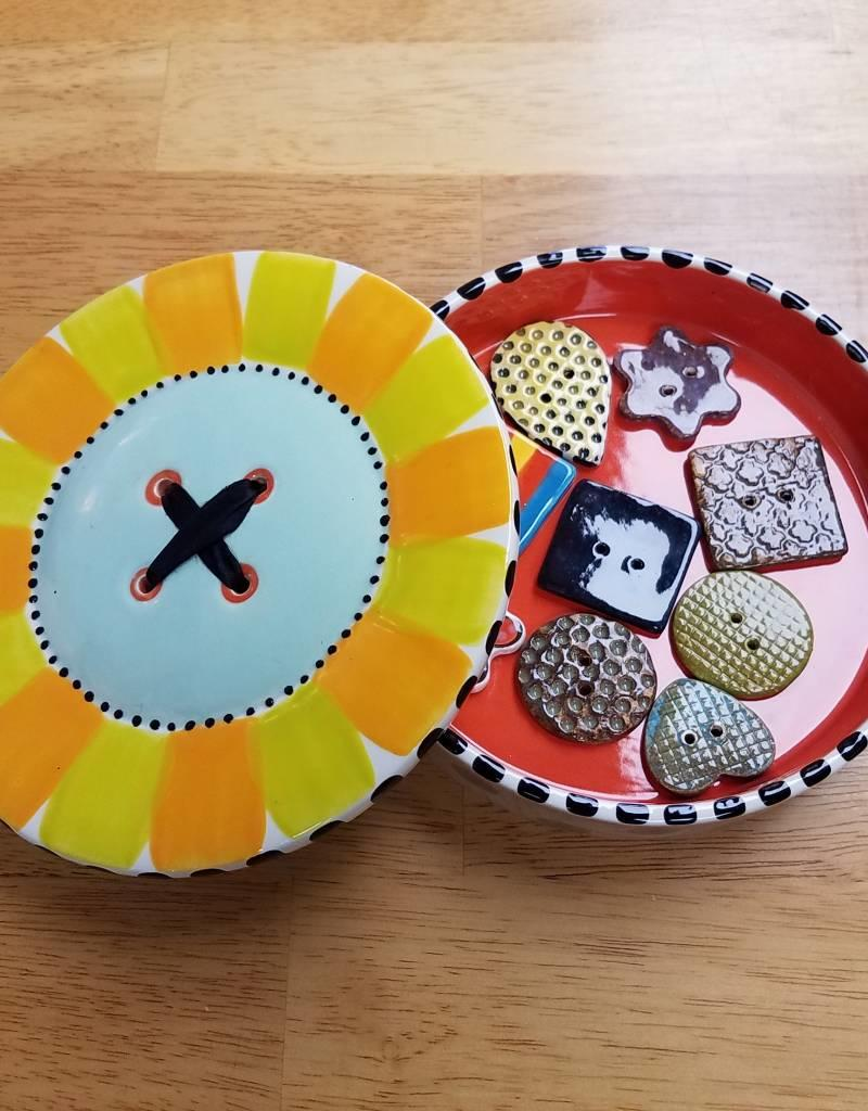 Paint Your Own: Button Box &  8 Buttons