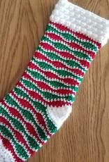 The Yarn Stop Holly Jolly Holiday Crochet Stocking