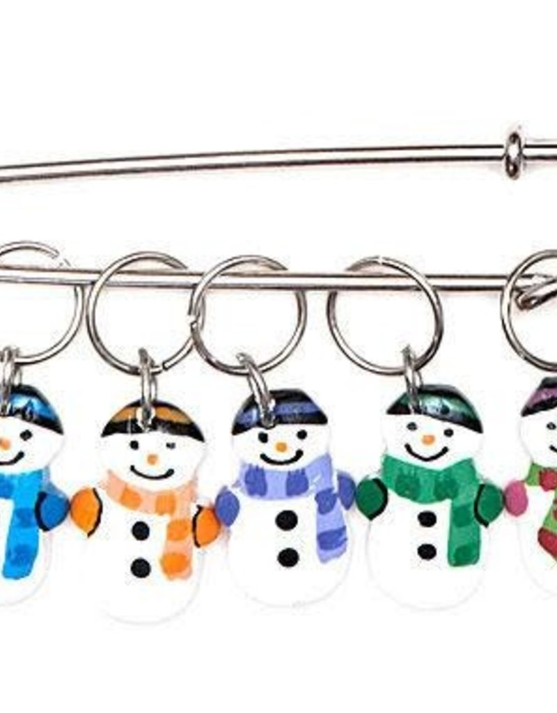 Paradise Exotic Accessories Wood Snowmen Stitch Markers