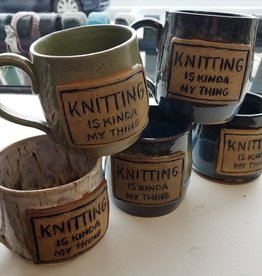 "The Yarn Stop ""Knitting Is Kinda' My Thing"" Mug"