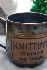 "The Yarn Stop ""Knitting Is Kinda' My Thing"" Mug"