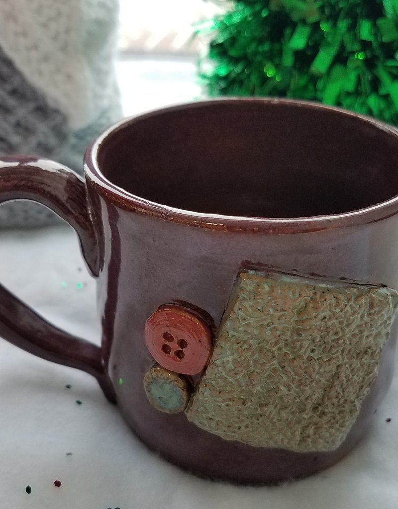 The Yarn Stop Buttons & Swatch Mug