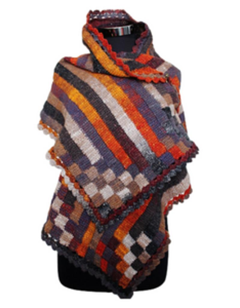 The Yarn Stop Stripy Entrelac Wrap Class (Crochet)
