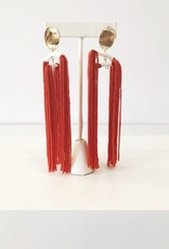 Tassel Pinata Earrings - Orange