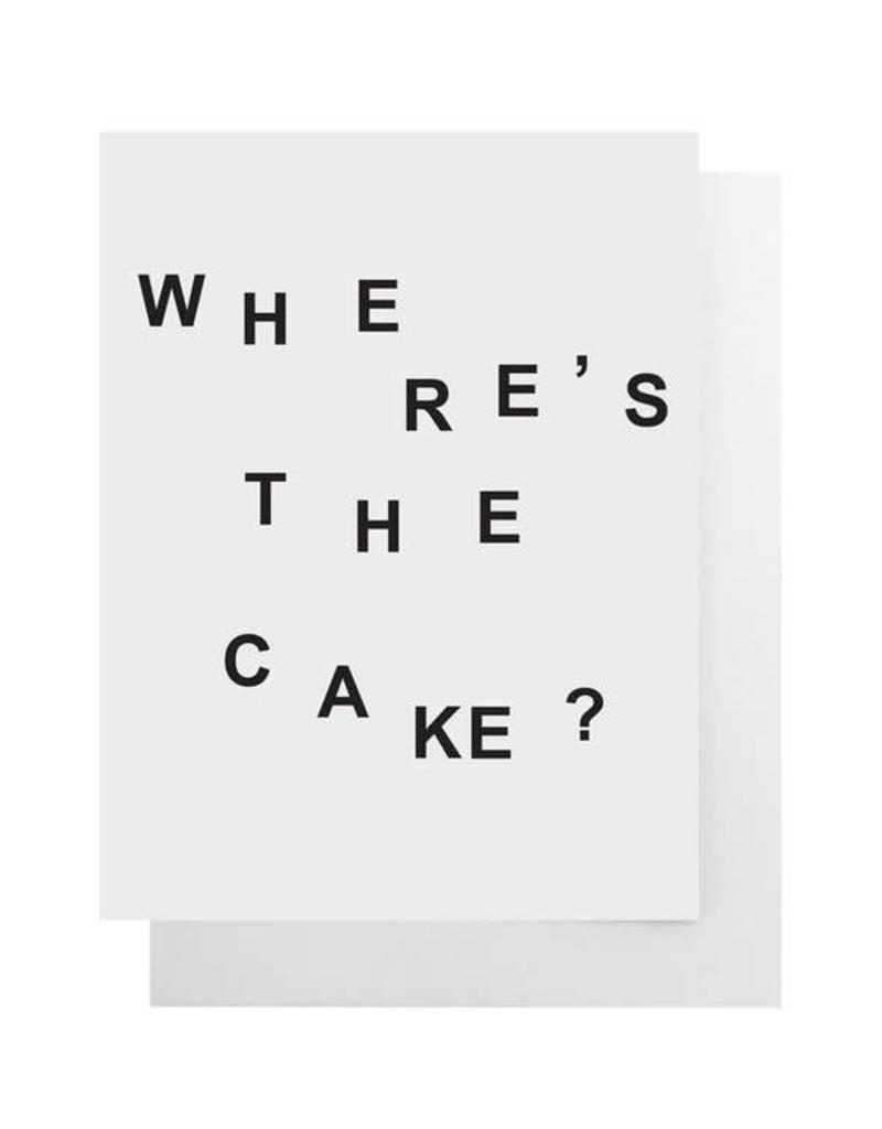 Where's the Cake? Card