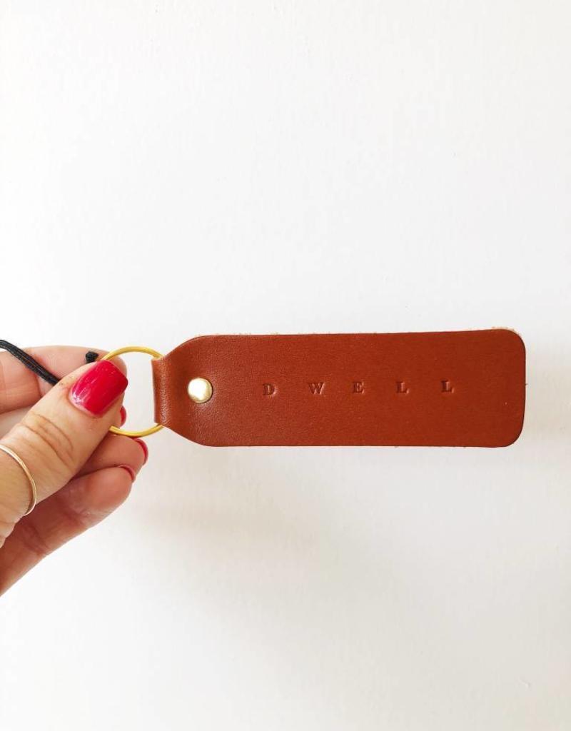DWELL Leather Keychain