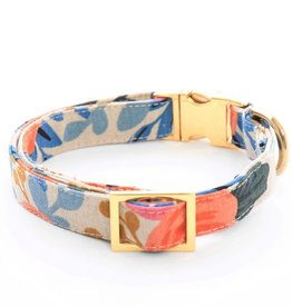Rosa Floral Natural Dog Collar - XS