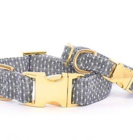 Swiss Dots Dog Collar - S