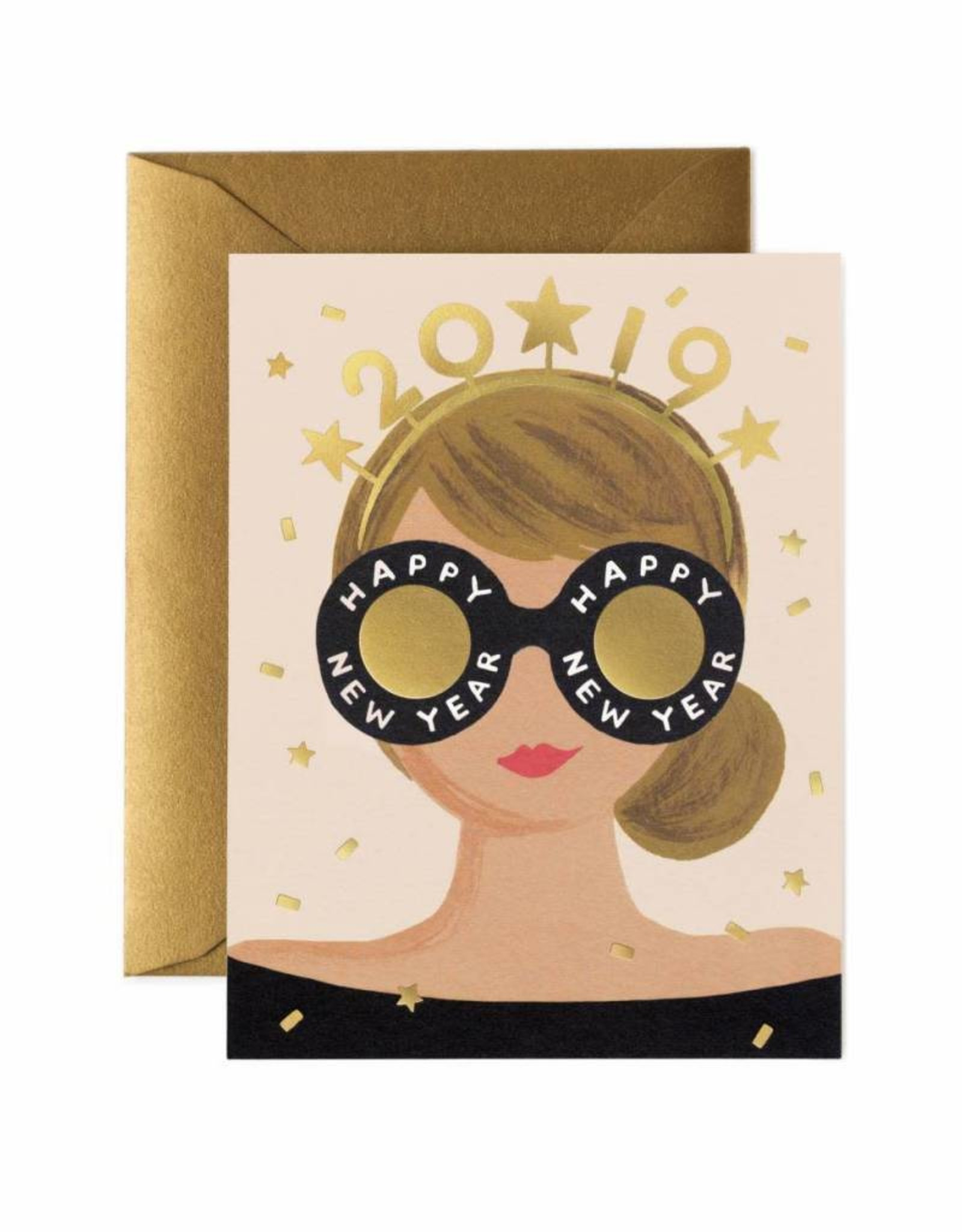 New Years Girl Card