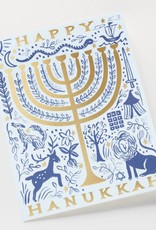 Twelve Tribes Menorah Card