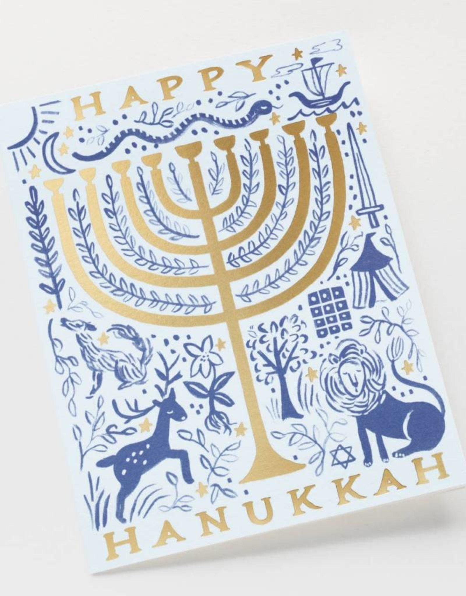 Twelve Tribes Menorah Card