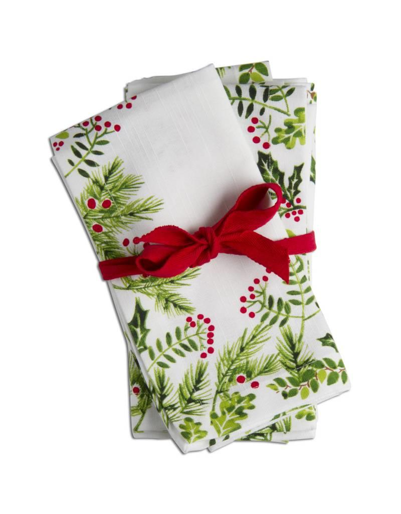 Holly Berry Cocktail Napkin - Set of 4