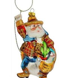 Santa Ornament - Lasso