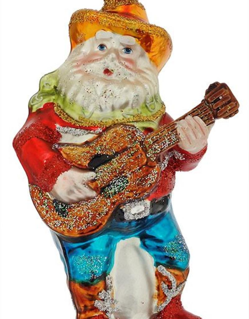 Santa Ornament - Guitar