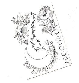 Temporary Tattoos - Moon
