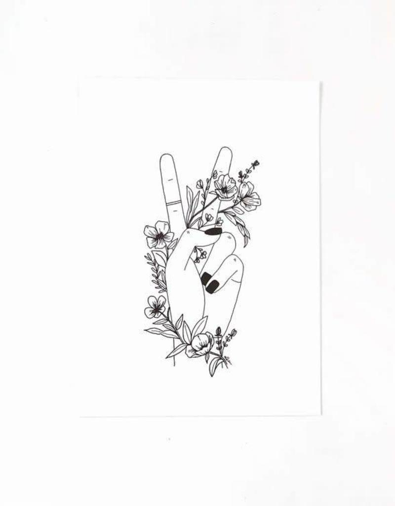 Peace Sign Print - 5x7