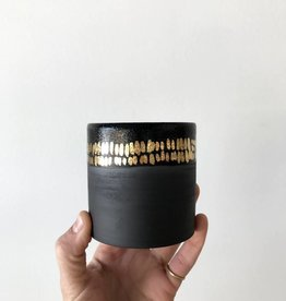 Black Cup + Gold Dash