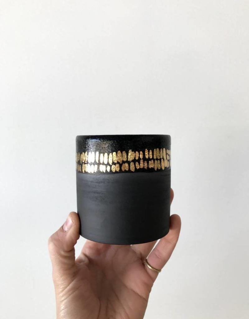 Black Cup + Gold Dash