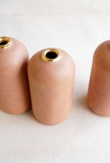 Matte Pink + Gold Vase