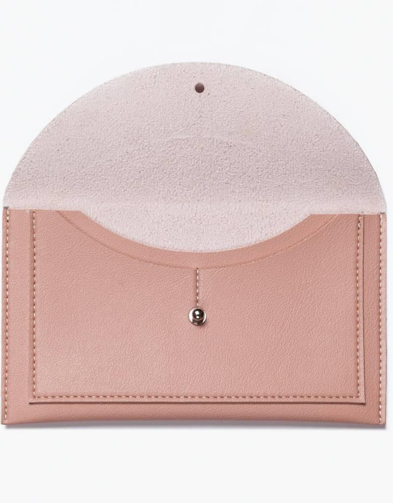Minimalist Envelope Wallet - Blush