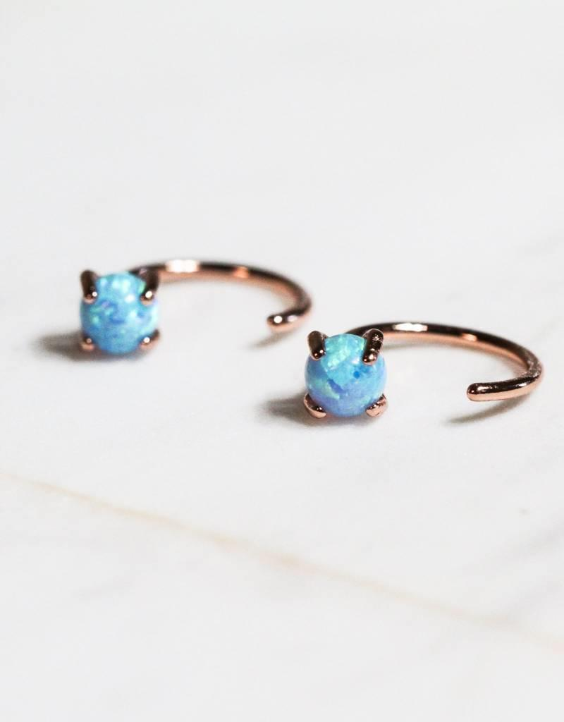 Opal Huggies - 18K Rose Gold-Plated
